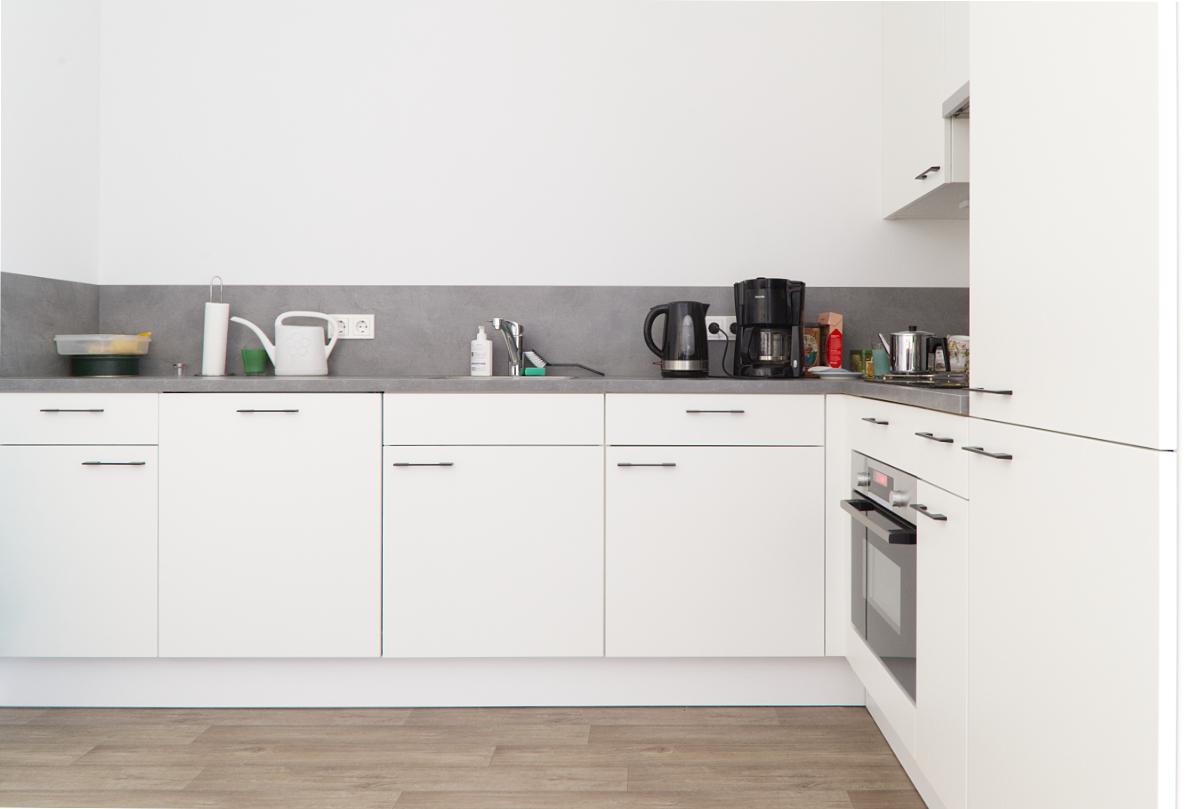 Een keuken van een van de appartementen