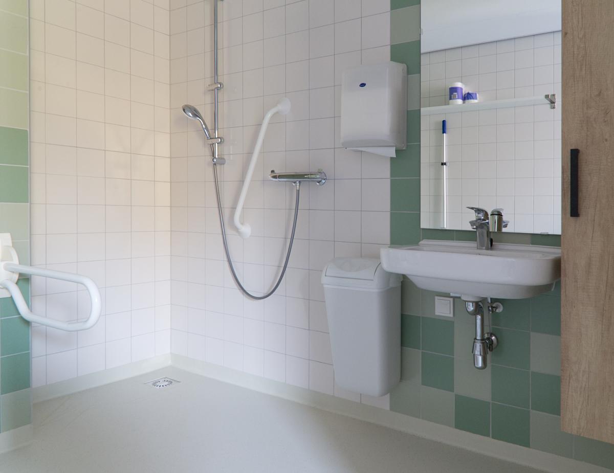 Badkamer van een van de appartementen