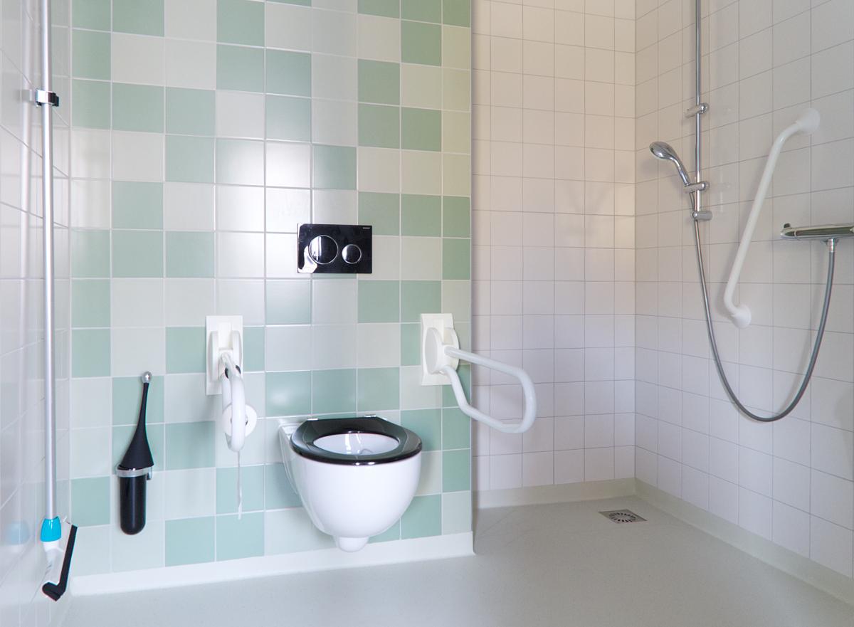 Badkamer/toilet van een van de appartementen