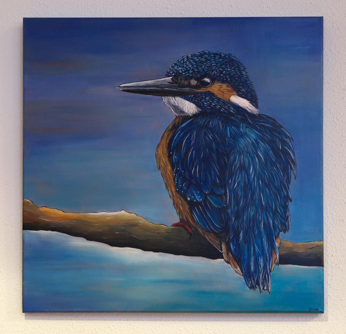 Een schilderij van een IJsvogel mag natuurlijk niet ontbreken in dit gebouw