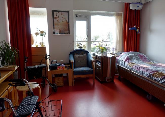 Kamer van bewoner zorglocatie Elim in Putten